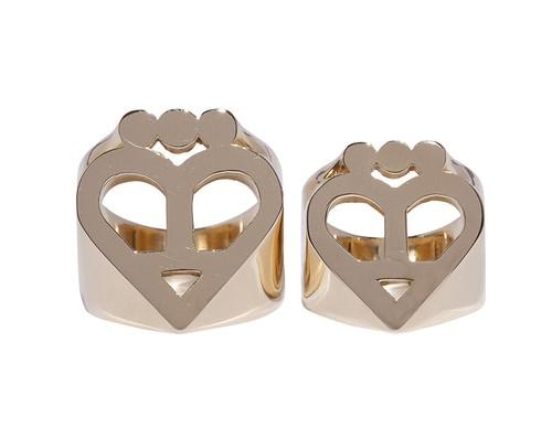 Logo Ring (L)  Gold-Coating