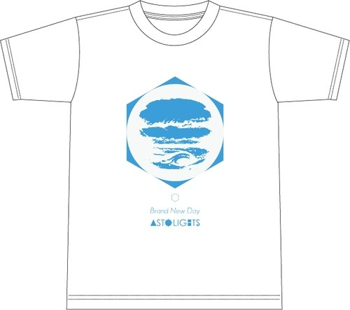 【1/25会場受け取り分】AstoLights - BRAND NEW DAY T shirt (White)