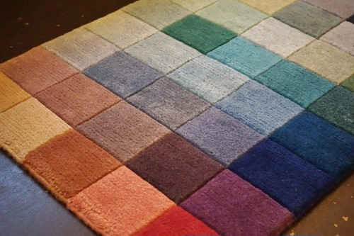40 COLOR-BLOCK HANDMADE DOORMAT