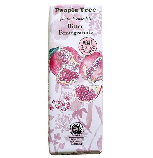 PeopleTree(ピープルツリー)チョコレート ビターザクロ 50g(ヴィーガン対応)