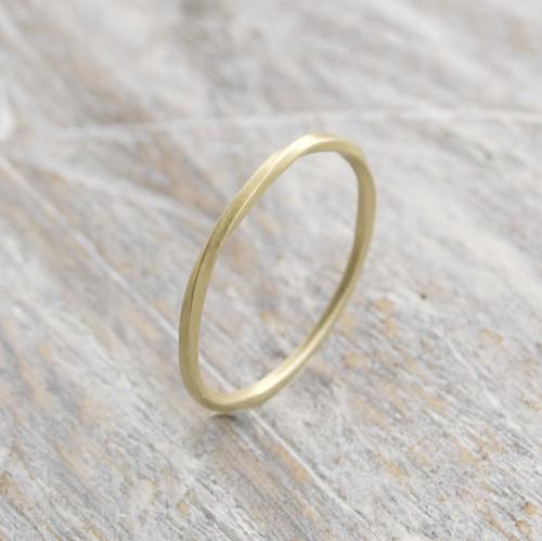 ブラスツイストリング 1.0mm幅 マット 3号~27号|WKS TWIST RING 1.0 bs matte|BRASS 真鍮 指輪 FA-189