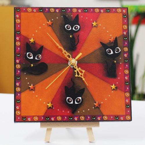 手作り 黒猫時計 Ⅰ