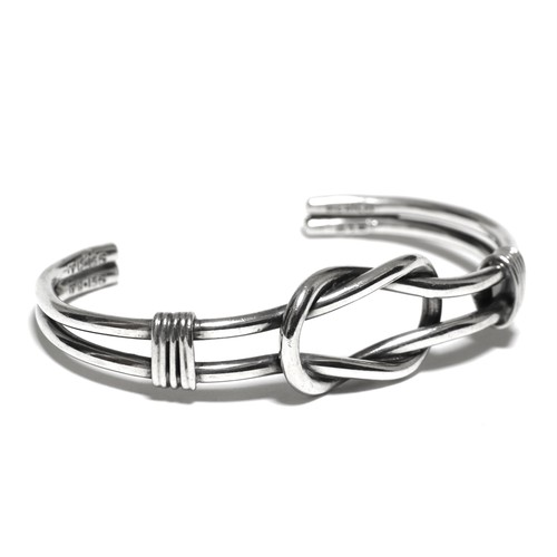 Vintage Sterling Silver Mexican Rope Knot Bangle