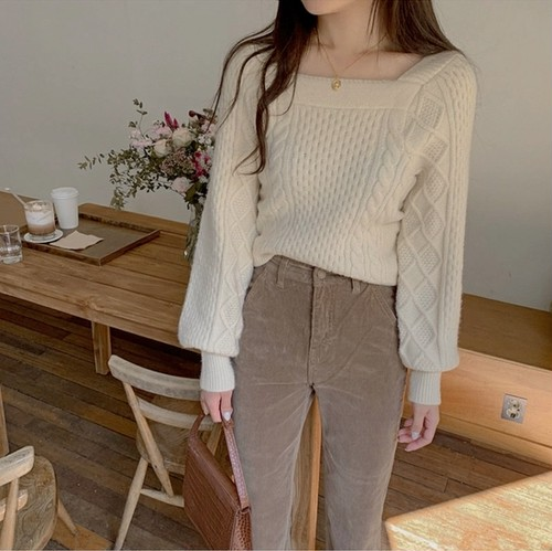romantic knit tops 2color