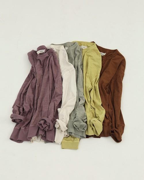 TODAYFUL トゥデイフル Slub Cotton Long T-Shirts 12010601