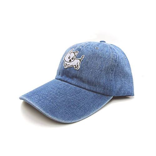 cibidomo - Kuchimawari yogoretaro Cap (Light Blue Denim)