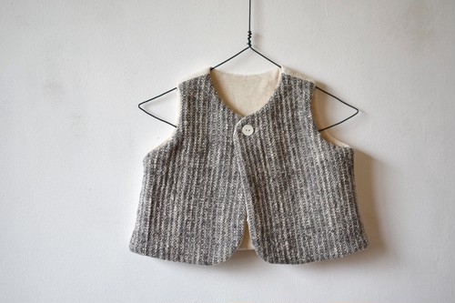 Gara-bou Baby Reversible Vest (Gray) / Suno&Morrison