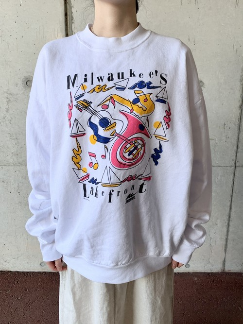 Vintage Multicolor Printed Sweat Made In USA