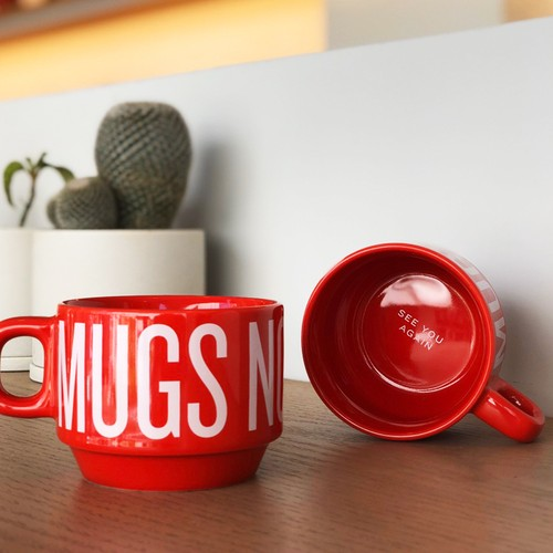 MUGS NOT DRUGS赤スタッキングマグ <see you again >
