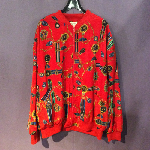 red chain pattern blouson [B1222]