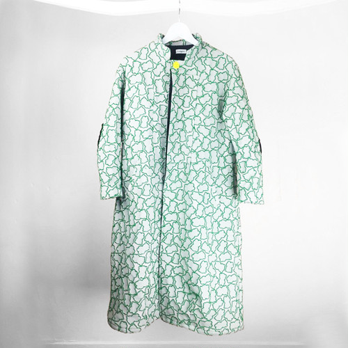 SOLID BEAR JQ STAND COLLAR COAT / WOMEN