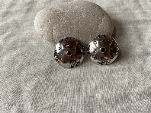 〈vintage silver925〉mexican design onyx earrings