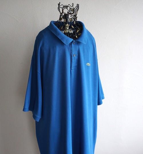 [LACOSTE] ビッグサイズ ワンポイントポロシャツ フランス企画 ブルー 表記(11L) ラコステ