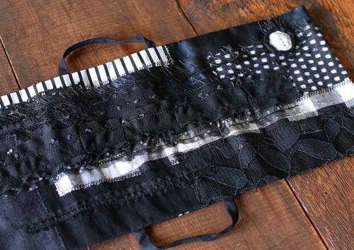 La robeオリジナルパッチワークカバー(ブラック)