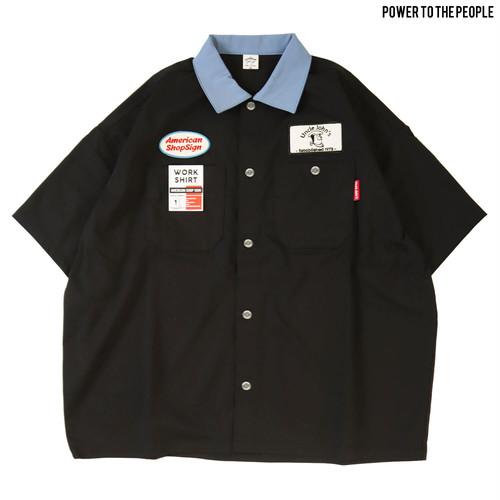 <AMERICAN SHOP SIGN>ワッペンワークシャツ NO1501009