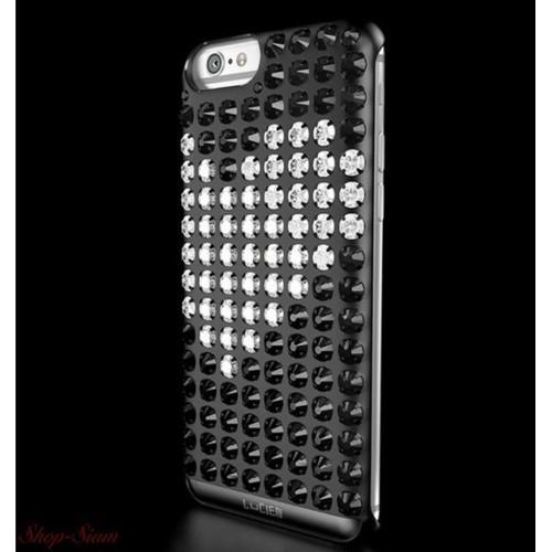 LUCIEN(ルシアン) iPhone6/6S/SE case HEARTS <ブラック×ホワイト>