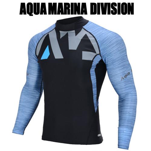 AQUA MARINA(アクアマリーナ)DIVISION ラッシュガード 長袖 メンズ ブルー