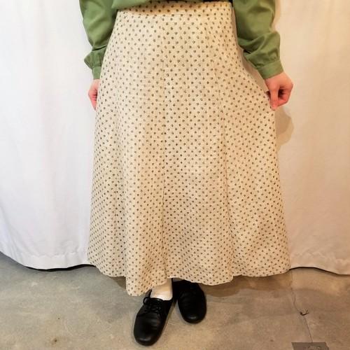 Flower pattern flare skirt [K-131]