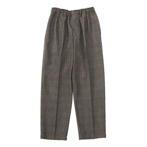 COMFOTABLE REASON (コンフォータブル リーズン) / WOOL GLEN CHECK SLACKS -BROWN-