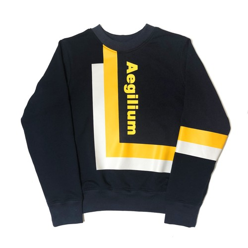 Aegilium print  sweat shirt Navy