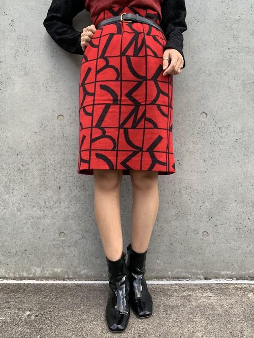 (TOYO) design knit tight skirt