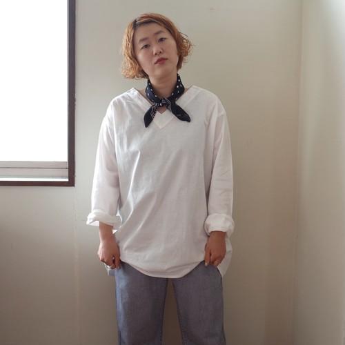 ロシア軍 スリーピングシャツ Vネック ホワイト サマー