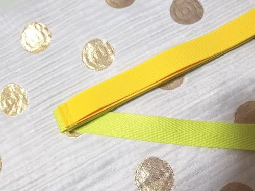 カラー三重紐 黄色✕ネオンイエロー