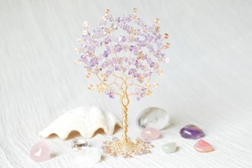 #21 すみれ色の木 / アメトリン (平面)