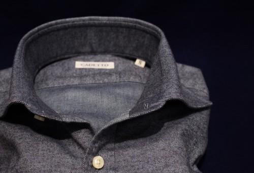 CADETTO ORIGINALS SHIRTS Flannel Twill  Blue-gray