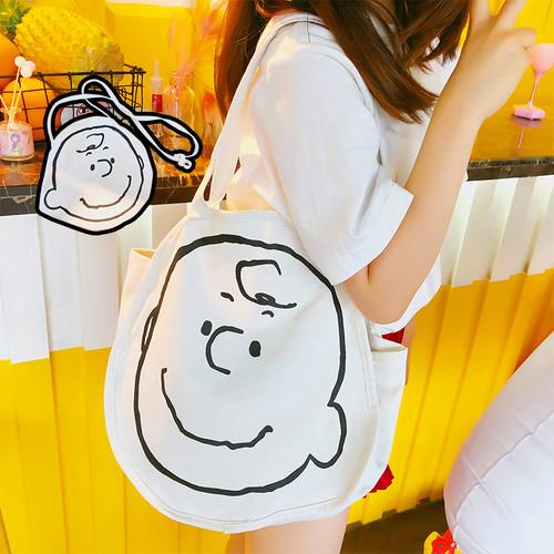 【バッグ・財布】プリント帆布肩掛けバッグ9535128