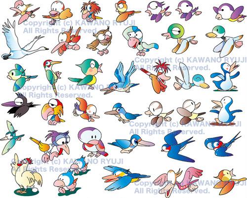 鳥のイラスト集_01_ベクターイラスト販売