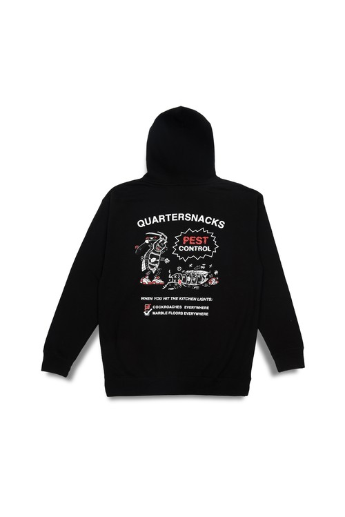 Quartersnacks PEST CONTROL HOODY BLACK L