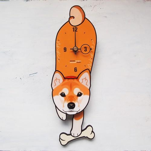 D-002 柴犬-犬の振り子時計
