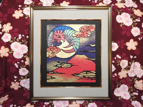 富士に鳳凰