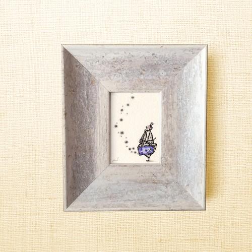 ミニ額縁 原画【 ロマンを運ぶ男 】mini frame ver.
