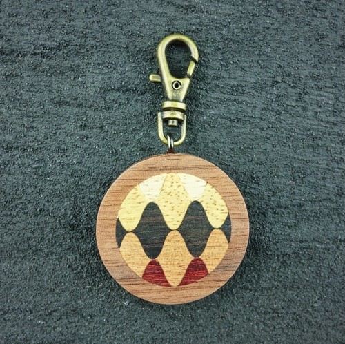 wooden inlaid charm IH-015-WT-2