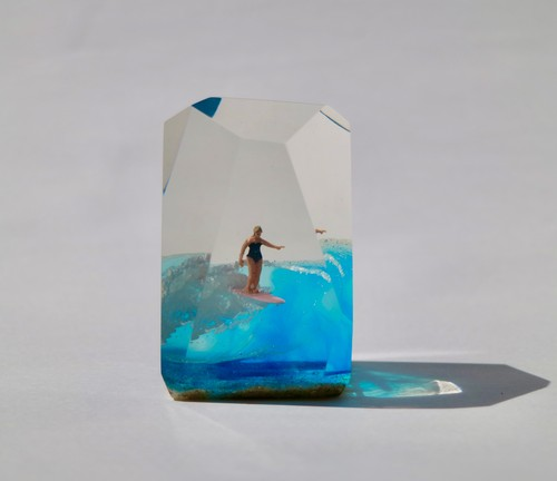 CRYSTAL CUBE M tall size Surfer Girl