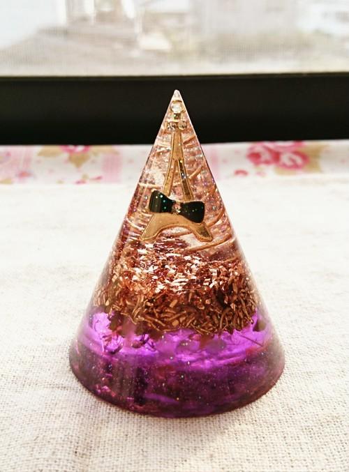 円錐状型オルゴナイト(パープル)