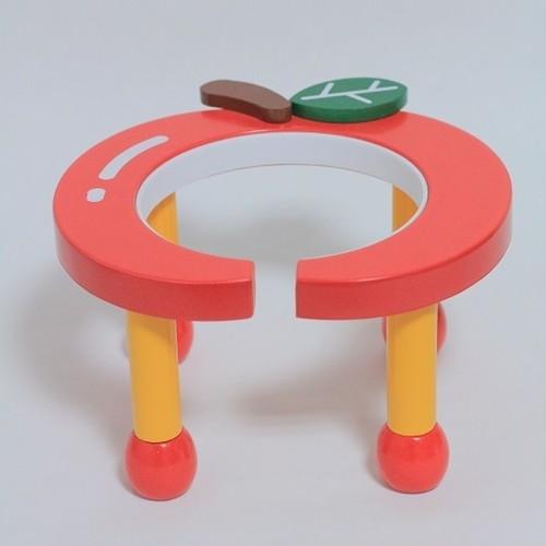 ポンポリース 食器台(りんご・赤)