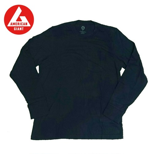 AMERICAN GIANT Heavyweight Longsleeve Pocket T-Shirt NAVY