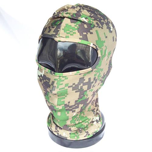 フェイスマスク カモフラ カモフラージュ 迷彩 サバイバル サバゲー グリーン デジカモ ウッドランド 682