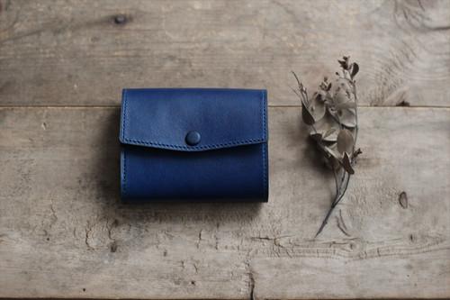藍染革[migaki] コンパクトミニ財布