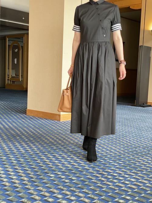 FLICKA別注 BORDERS at BALCONY SHIRT DRESS