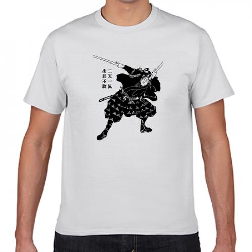 宮本武蔵 戦国 江戸 剣豪 歴史人物Tシャツ048