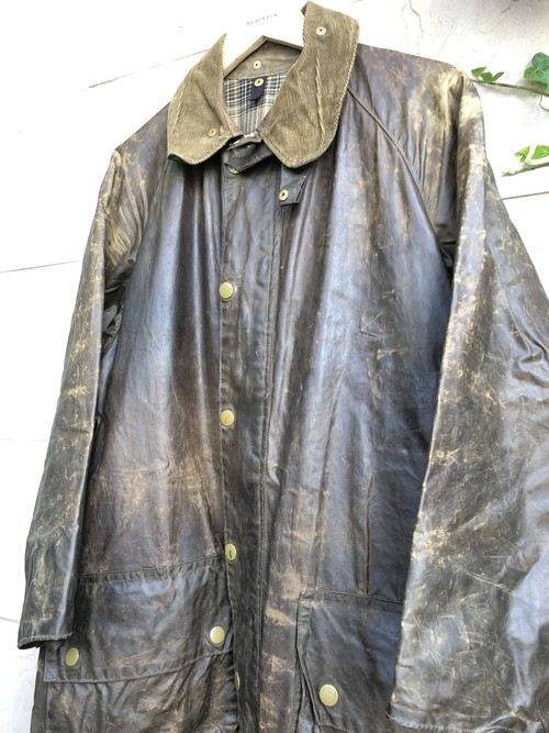 1950s-60s Barbour oiled jacket yellow label