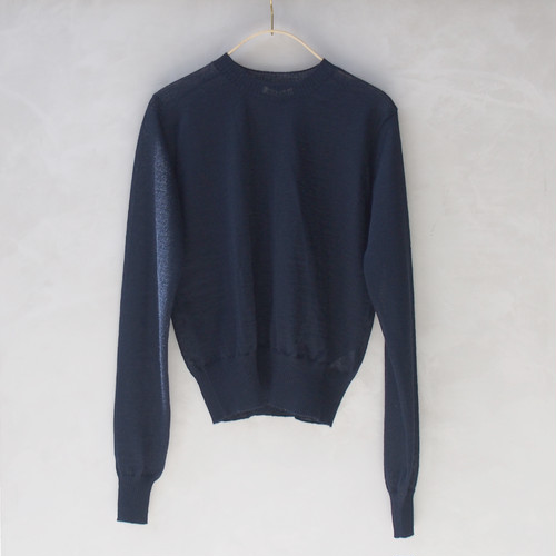 AURALEE BABY MOHAIR KNIT P/O NAVY