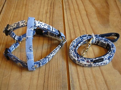 bleu Harness & Leash - XS(超小型犬・幼犬用)