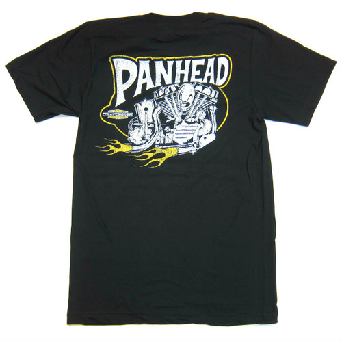 Lawrence Vintage Cycle 74's Forever PANHEAD tee shirt, black