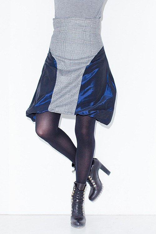 A-00713 チェックサイドバルーンスカート SALE