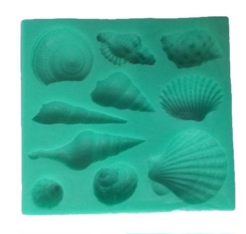 zcza 041upk3 レジン 型 シリコンモールド アクセサリーパーツ パーツ 作成 シリコン モールド 抜き型 キット 貝殻